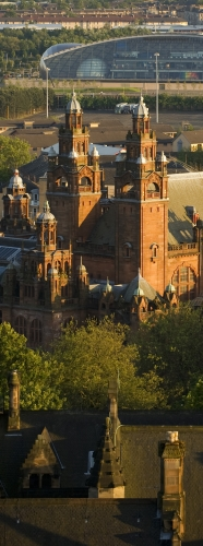 View of the Science Centre and Kelvingrove