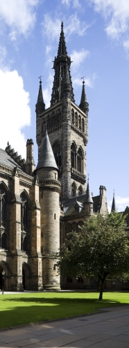 View of the tower from west quadrangle