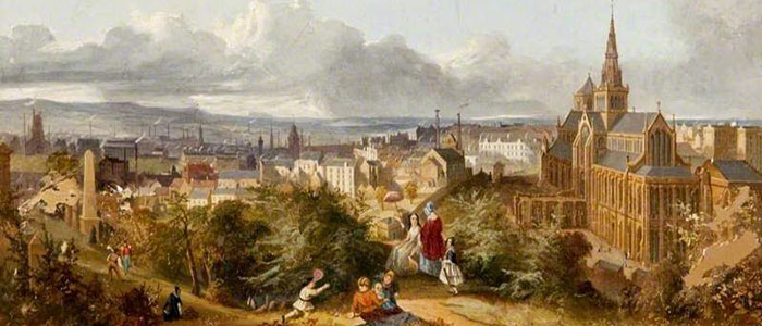 Glasgow Cathedral from the Necropolis, artist unknown, c.1840