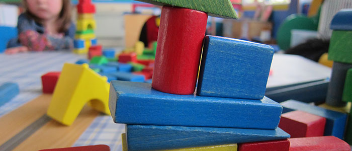 children's coloured building blocks