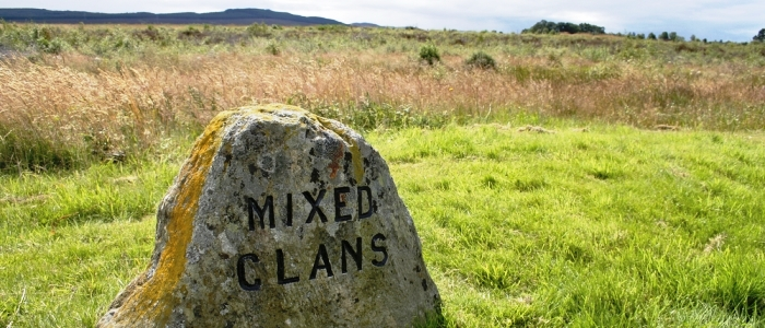 Image of a memorial stone in Culloden