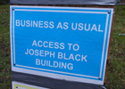 Business as usual sign 140 section image