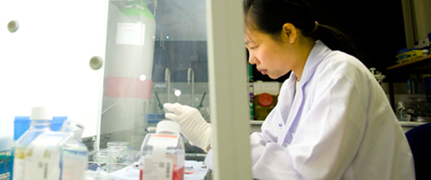 PGR Prospective students - International student working in lab