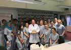 BDS3 students give Dr Cameron a cake