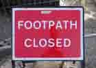 Image of a footpath closed notice
