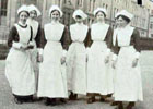 Archive image of nurses in 1915