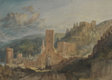 Detail of Bacharach and Burg Stahleck by JMW Turner