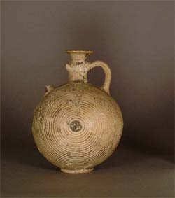 Pilgrim Flask GLAHM D.229, Produced in Greece, Found in Cyprus,Late Bronze II (1400-1200 B.C.)
