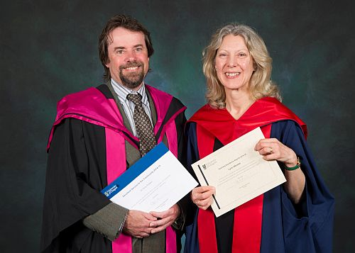 Professor Abrams and Dr Pollard at graduation ceremonies 24 June 2015