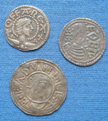 Three silver Anglo-Saxon coins