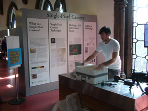 A science demonstration in the museum.