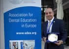 Dr Ziad Al-Ani, University Teacher at Glasgow Dental School, shortly after receiving an Early Career Educator Award at the Association for Dental Education in Europe Conference in Szeged, Hungary