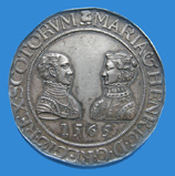 Medal commemorating the marriage of Mary Queen of Scots and Henry Darnley.