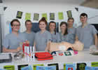 Students ready to demonstrate life saving techniques