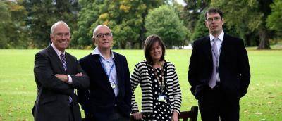 (L-R) David Clark, Christopher Isles, Fiona Graham, Andrew Carnon members of the imminence of death in Scottish hospital inpatients study team