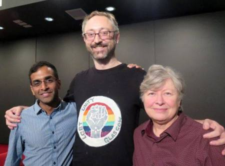 Arvind Narrain, Matthew Waites and Nancy Nicol, at LGBTI Human Rights Activism and Film, CCA, Glasgow, 15 November 2015