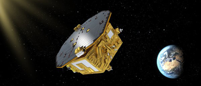 Artists impression of the Lisa pathfinder in space
