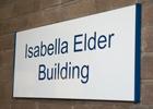 Image of the Isabella Elder Building sign
