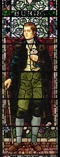Robert Burns window