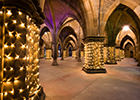 Cloisters with lights