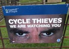 Image of an anti cycle theft poster