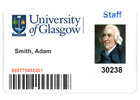 Image of a University ID card for Adam Smith
