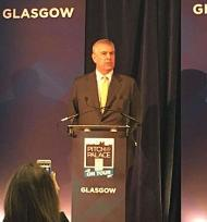 Image of the Duke of York speaking at the Pitch at Palace event