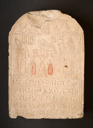 Egyptian 6th Century BC. Funeral Stele of Tadihor, Limestone.