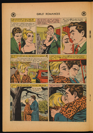 Girls' Romances no. 78, DC Comics, September 1961.  26.0 x 18.0.  David A. Roach.