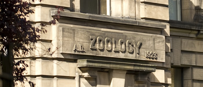 Door of the Graham Kerr Building (Zoology)