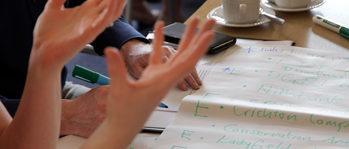 hands gesticulating during a workshop
