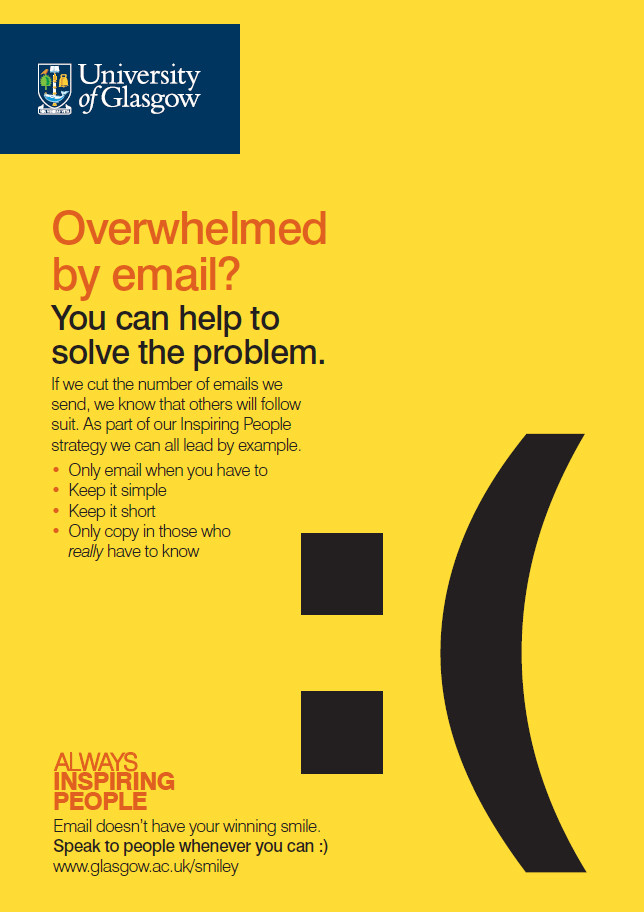 Email campaign poster with the words: You can help to solve the problem