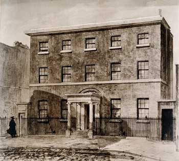 Façade of William Hunter's house at 16 Great Windmill Street, London (Wellcome Photo Library, London)