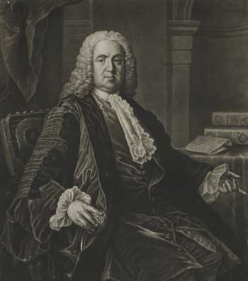 Richard Houston's portrait of Dr Richard Mead, 1757.