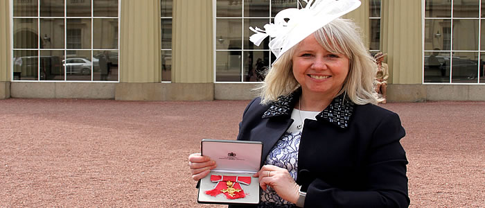Christine Goodall and her OBE