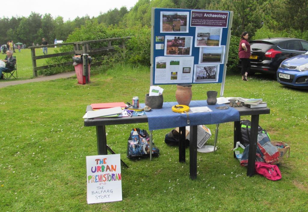 my Urban Prehistory pop-up stall at the North Glenrothes Community Council Fun Day, June 2016