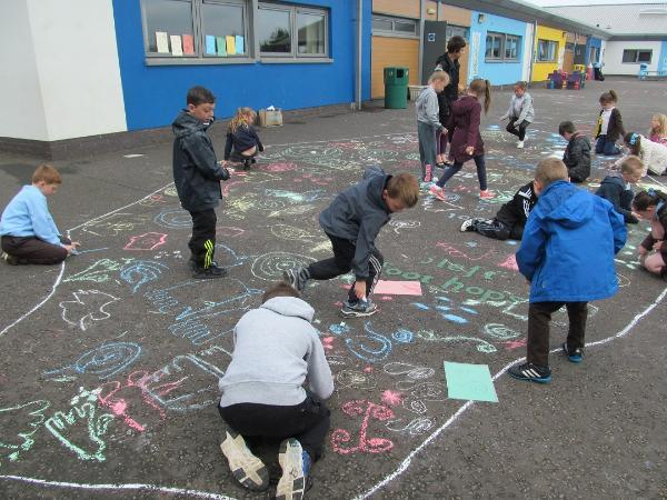 using the Cochno Stone as a learning aid in a Lanarkshire primary school