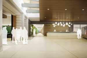 Kelvin Hall lobby.