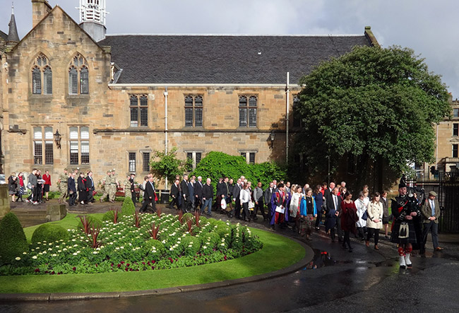 Image of the act of remembrance procession for the Battle of the Somme