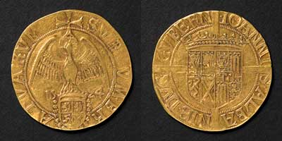 John, Duke of Albany, gold, Scotland, 1524