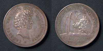 Duke of Monmouth Beheaded, silver, Netherlands, 1685