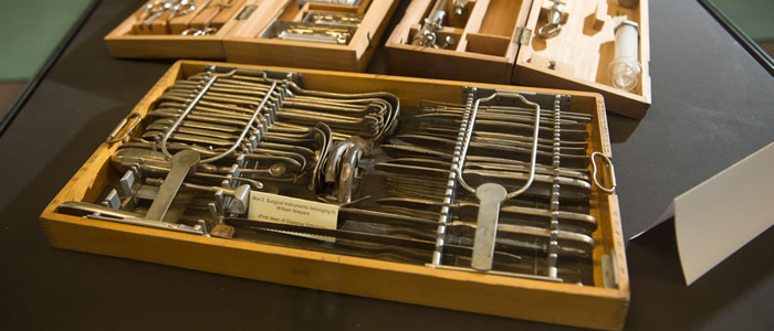 James Herriot Library Display Of Historical Surgical Instruments
