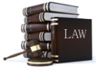 A stack of law books and a gavel