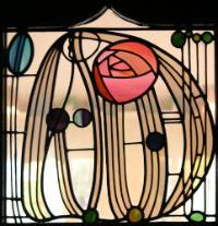 Stained glass image for the GLASS research sections's page.