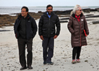 Members of the End of Life Studies Group on a beach in Orkney