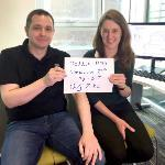 Image of Alain and Claire promoting Reddit Ask Me Anything