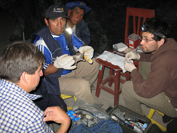 Image of Daniel Streicker and project workers in Peru