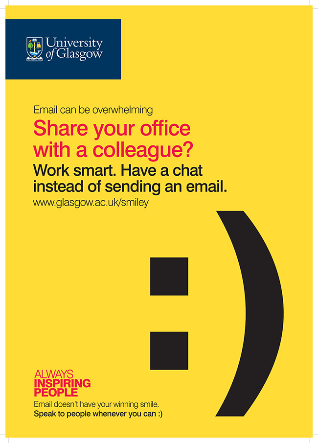 Email Campaign poster with the words - Share your office with a colleague