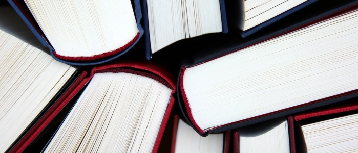 Textbooks close-up