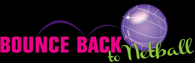 Image of Bounce Back to Netball branding from UofG sport